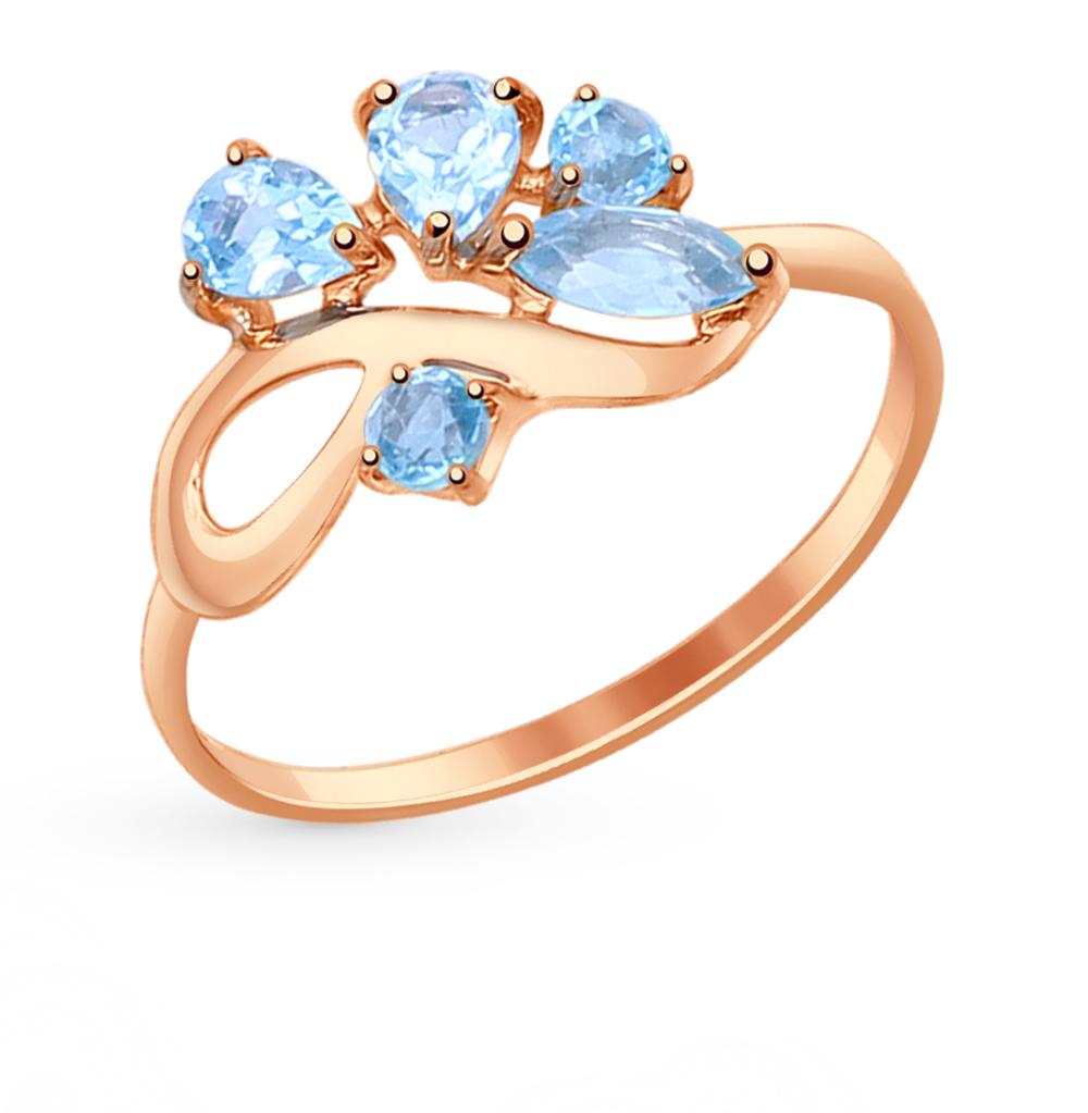 золотое кольцо с топазами SOKOLOV 714608*