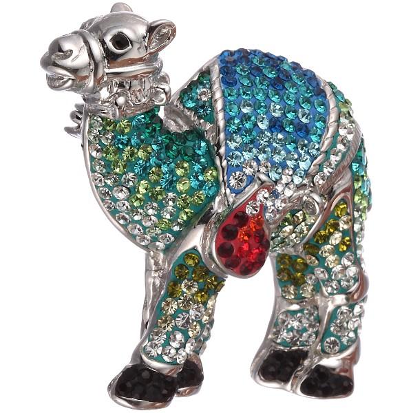 Серебряная брошь с эмалью и кубическими циркониями в Екатеринбурге