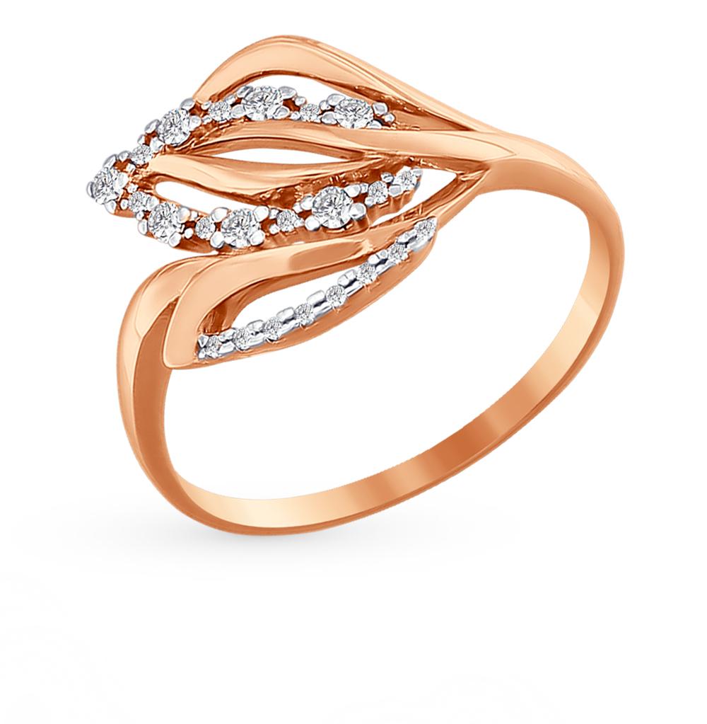 Фото «Золотое кольцо с фианитами SOKOLOV 015987*»