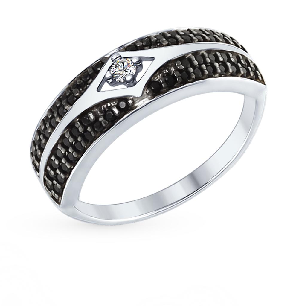 серебряное кольцо с фианитами SOKOLOV 94012561