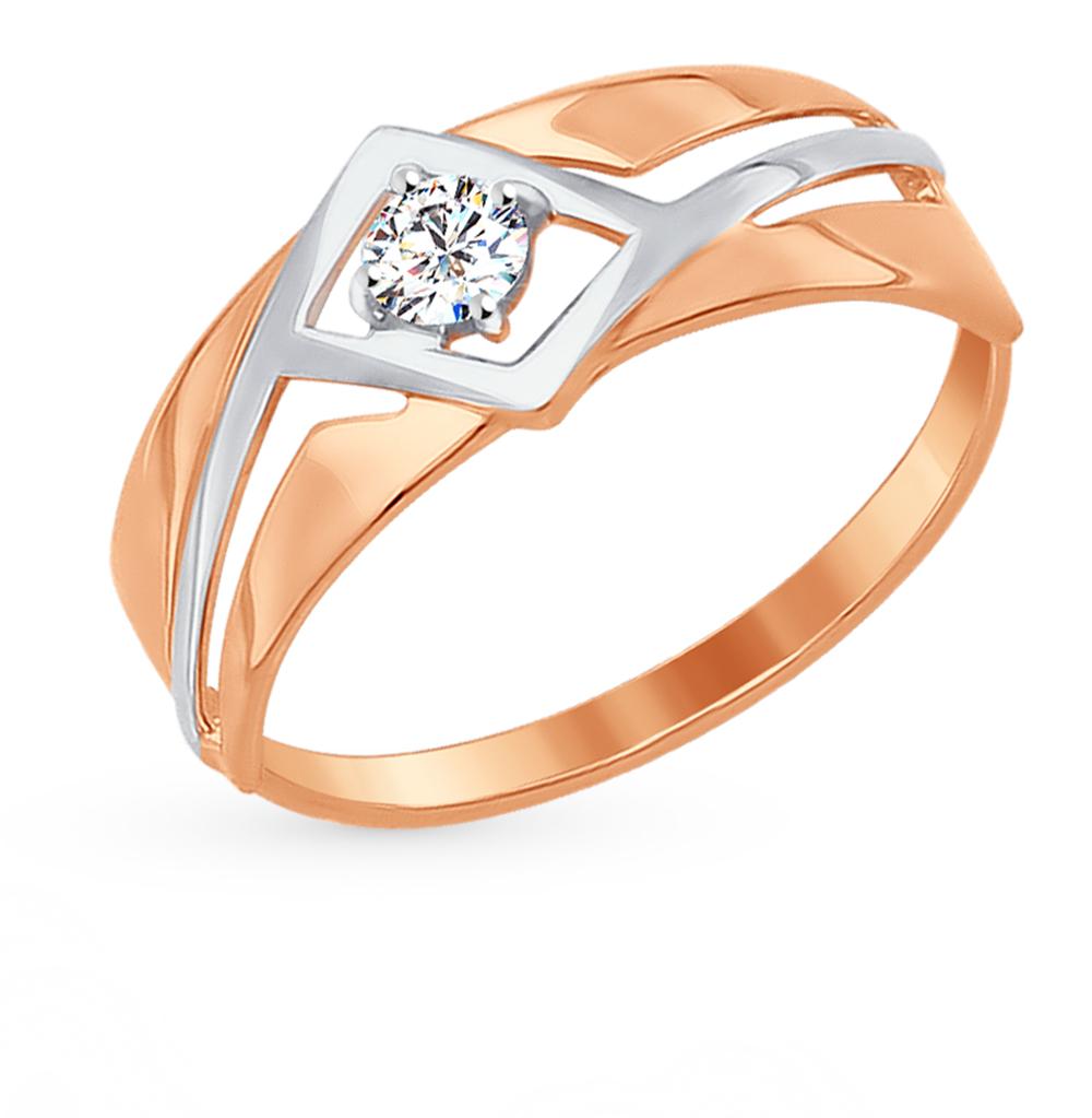 золотое кольцо с фианитами SOKOLOV 017295*