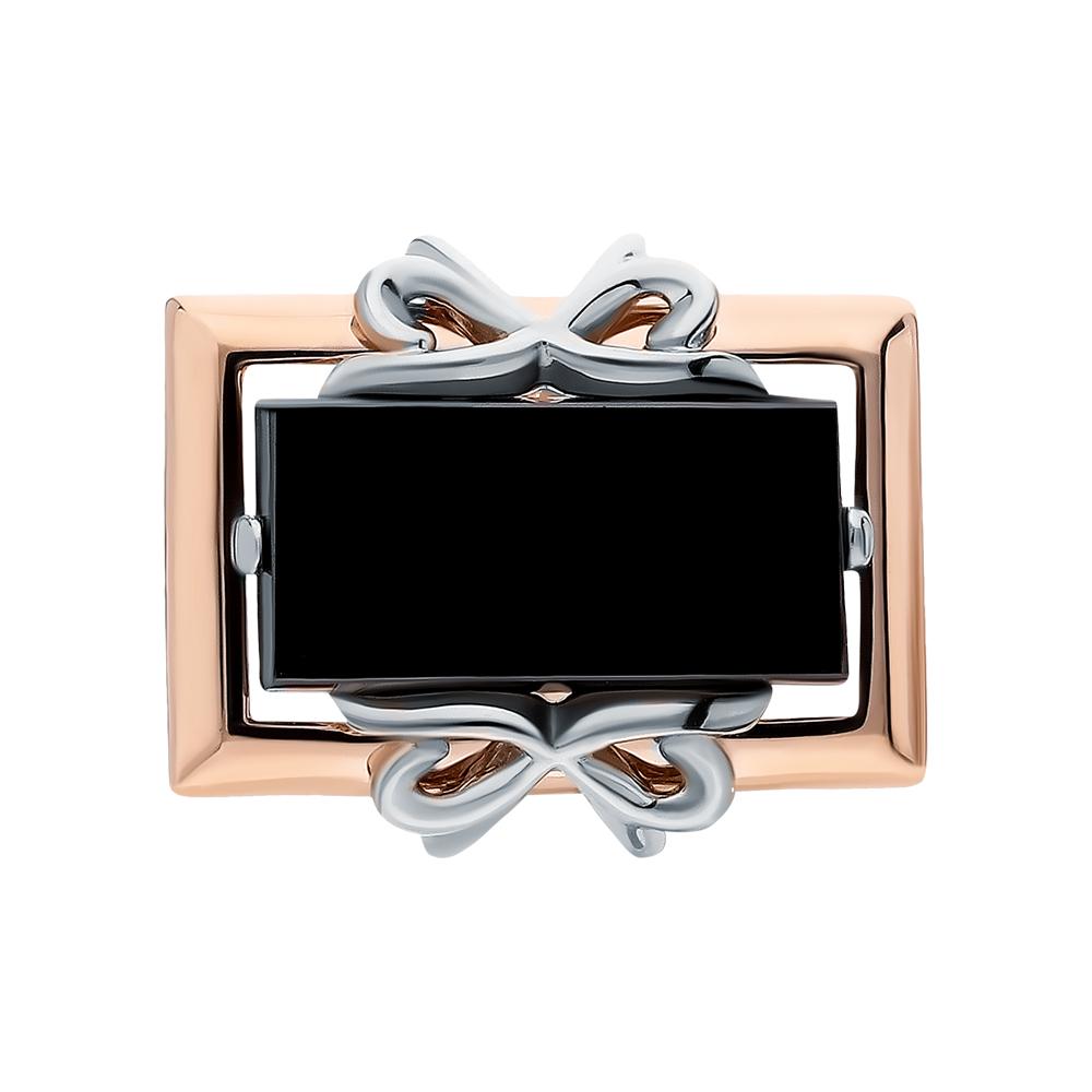 Фото «Золотые запонки с ониксом»