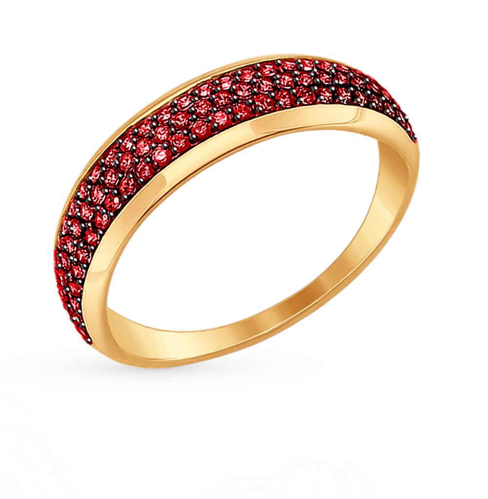 Фото «Золотое кольцо с фианитами SOKOLOV 017378*»