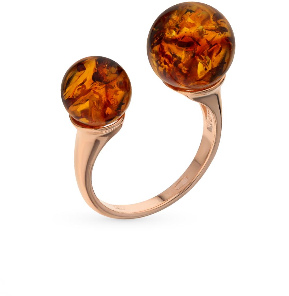 Фото «Серебряное кольцо с янтарем SOKOLOV 93010540»