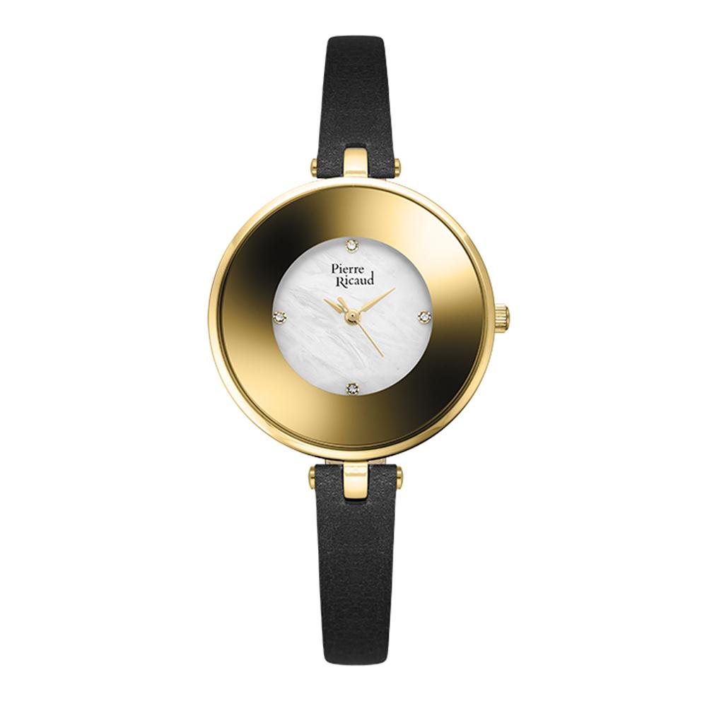 Женские часы P22046.124FQ на кожаном ремешке с минеральным стеклом