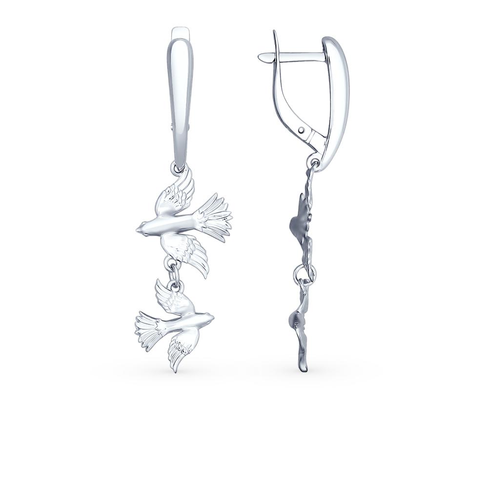 серебряные серьги SOKOLOV 94022419