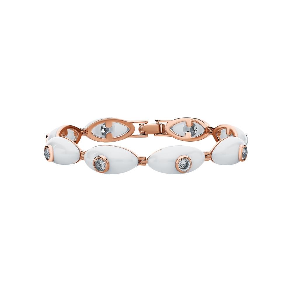 Фото «Серебряный браслет с керамикой и кубическими циркониями»