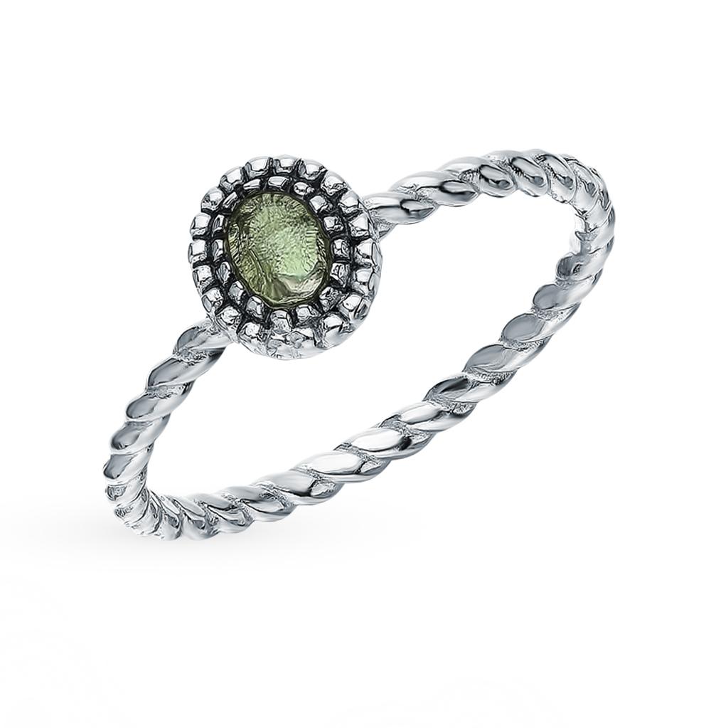 Серебряное кольцо с серебром и алпанитом в Екатеринбурге