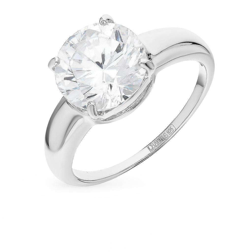 серебряное кольцо с фианитами SOKOLOV 94012073