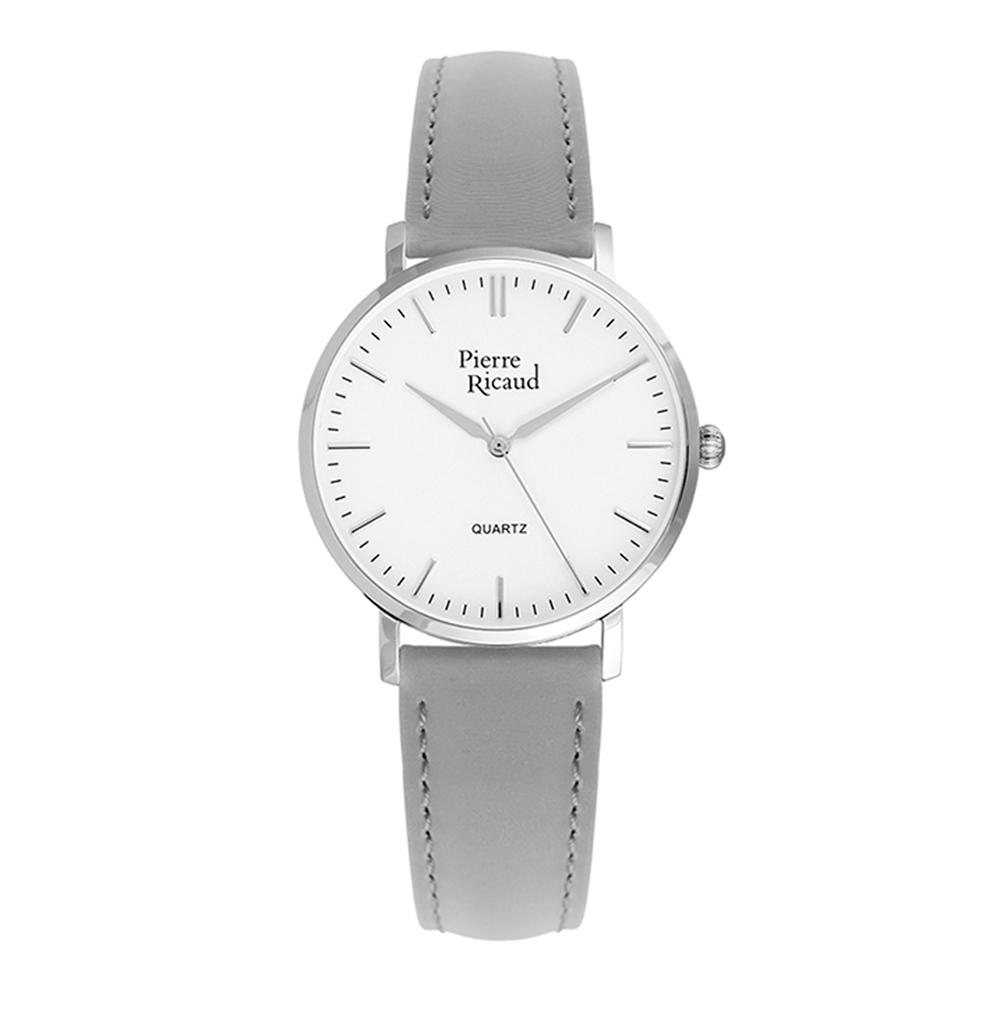 Женские часы P51074.5G13Q на кожаном ремешке с минеральным стеклом