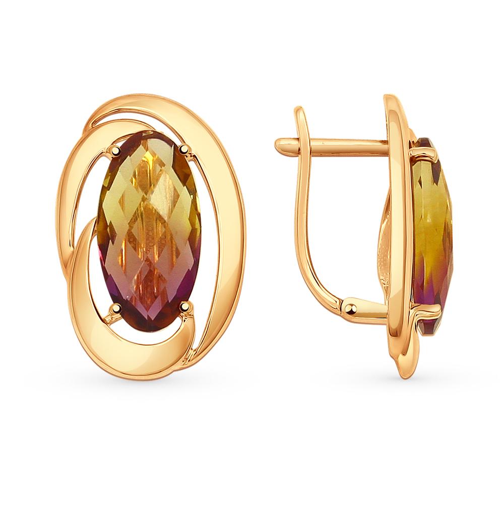 Фото «Золотые серьги с аметрином»