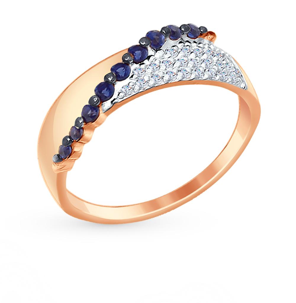 золотое кольцо с фианитами SOKOLOV 017362*