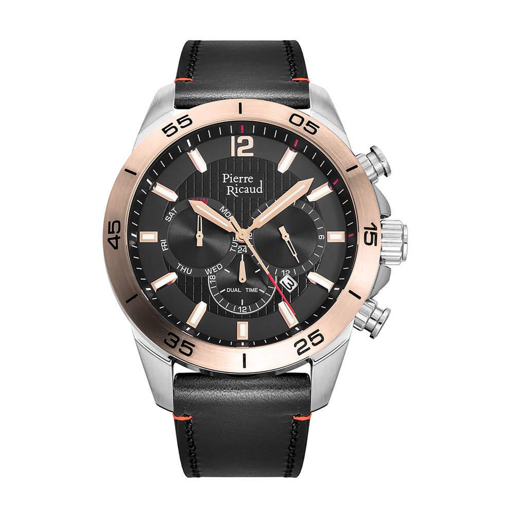 Фото «Мужские кварцевые часы P97261.R254QF на кожаном ремешке с минеральным стеклом»
