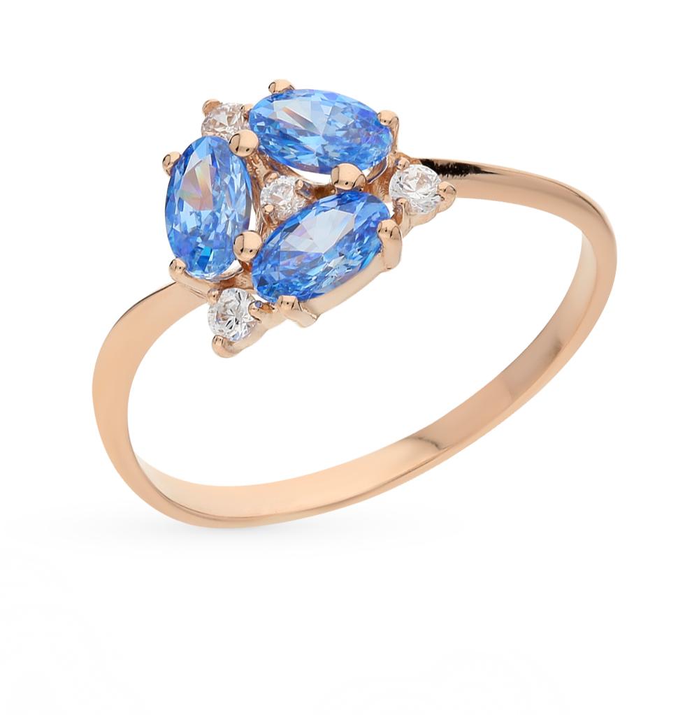 Золотое кольцо с кристаллами swarovski от SUNLIGHT