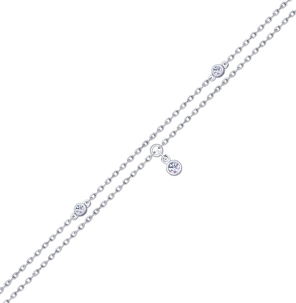 серебряный браслет с фианитами SOKOLOV 94050414