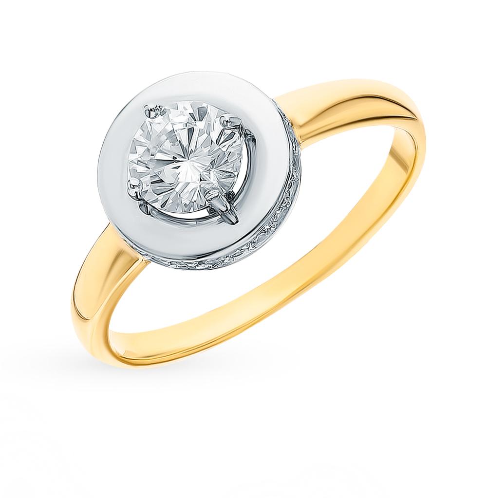 Фото «Золотое кольцо с фианитами SOKOLOV 018426-2*»
