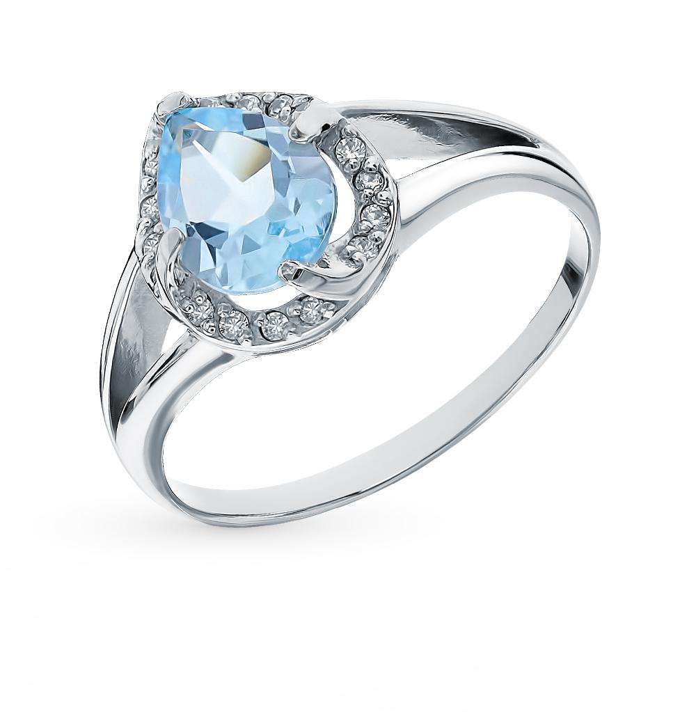 Серебряное кольцо с топазами в Екатеринбурге