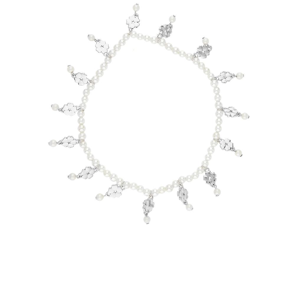 серебряный браслет с жемчугом
