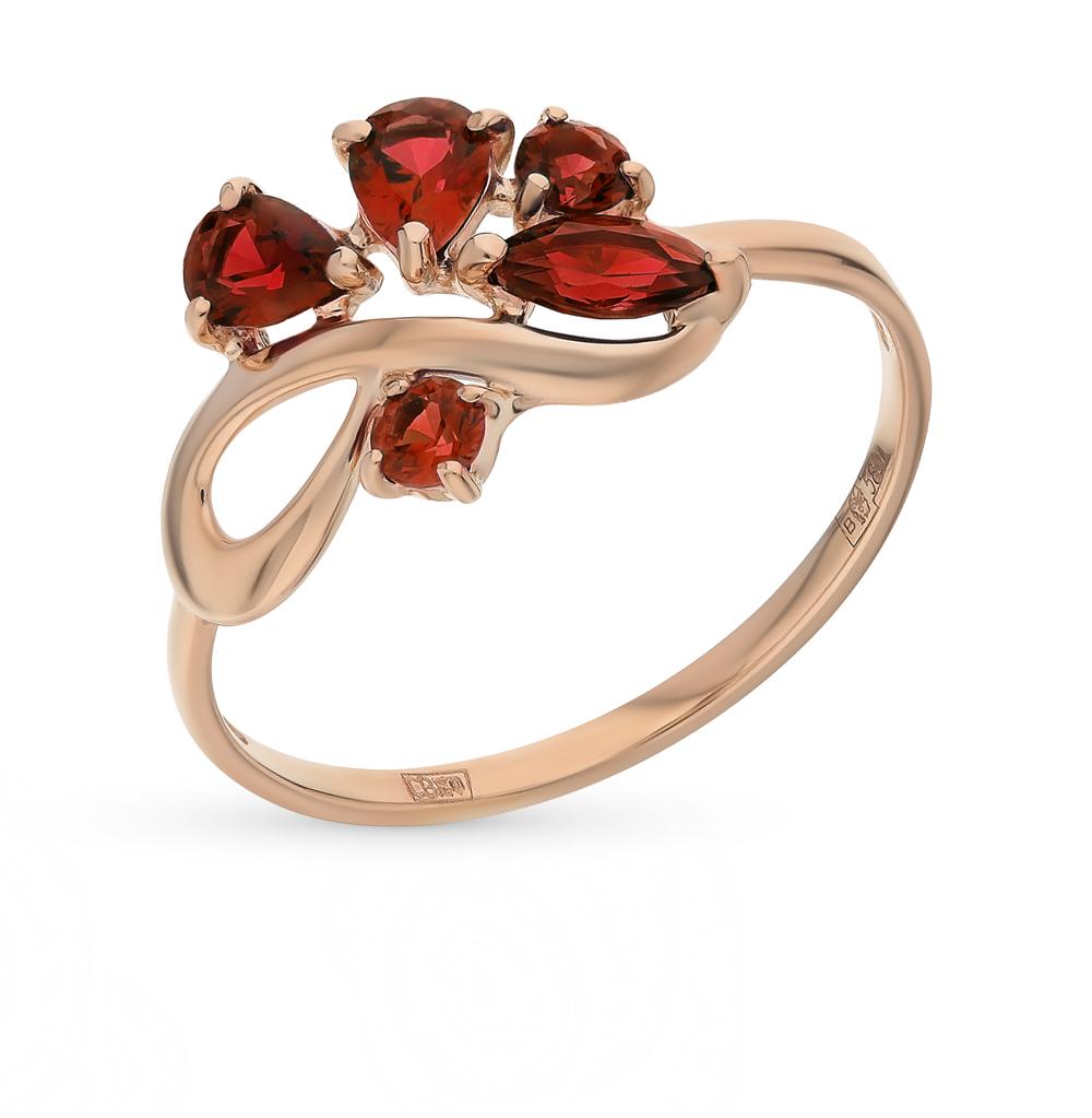 Фото «Золотое кольцо с гранатом SOKOLOV 714609*»