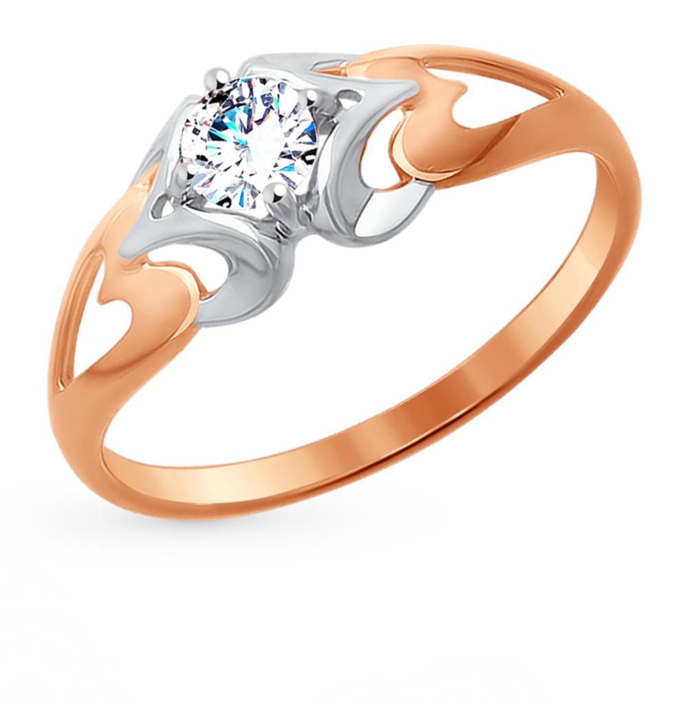 Фото «Золотое кольцо с фианитами SOKOLOV 017630*»