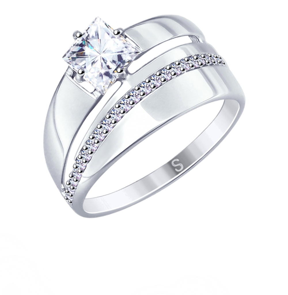 Фото «Серебряное кольцо с фианитами SOKOLOV 94012673»