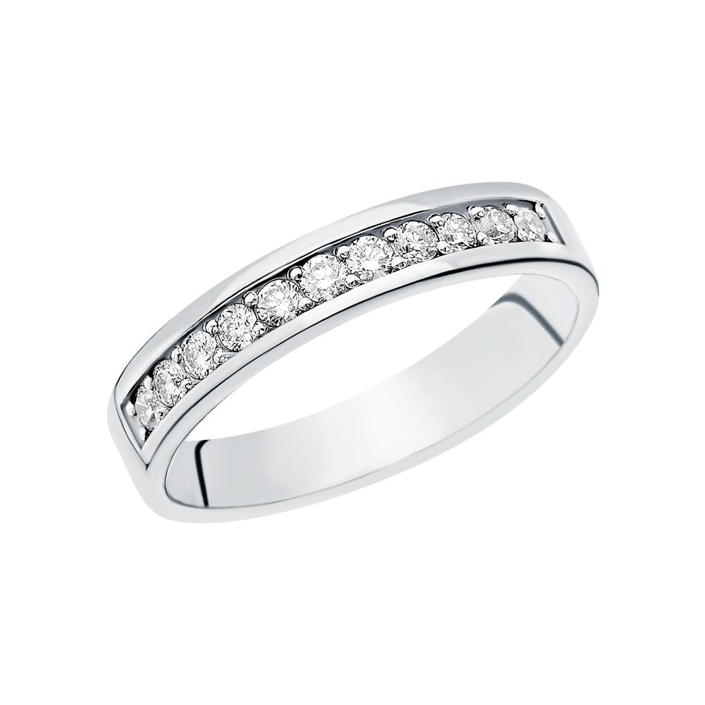 Золотое кольцо с бриллиантами ЮВЕРОС 10-520: белое золото 585 пробы, бриллиант — купить в Екатеринбурге, фото, артикул 106742 — интернет-магазин SUNLIGHT