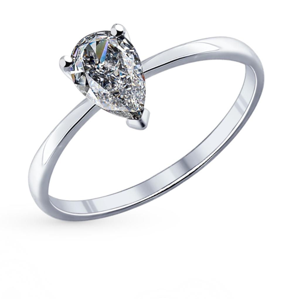 серебряное кольцо с фианитами SOKOLOV 94011743