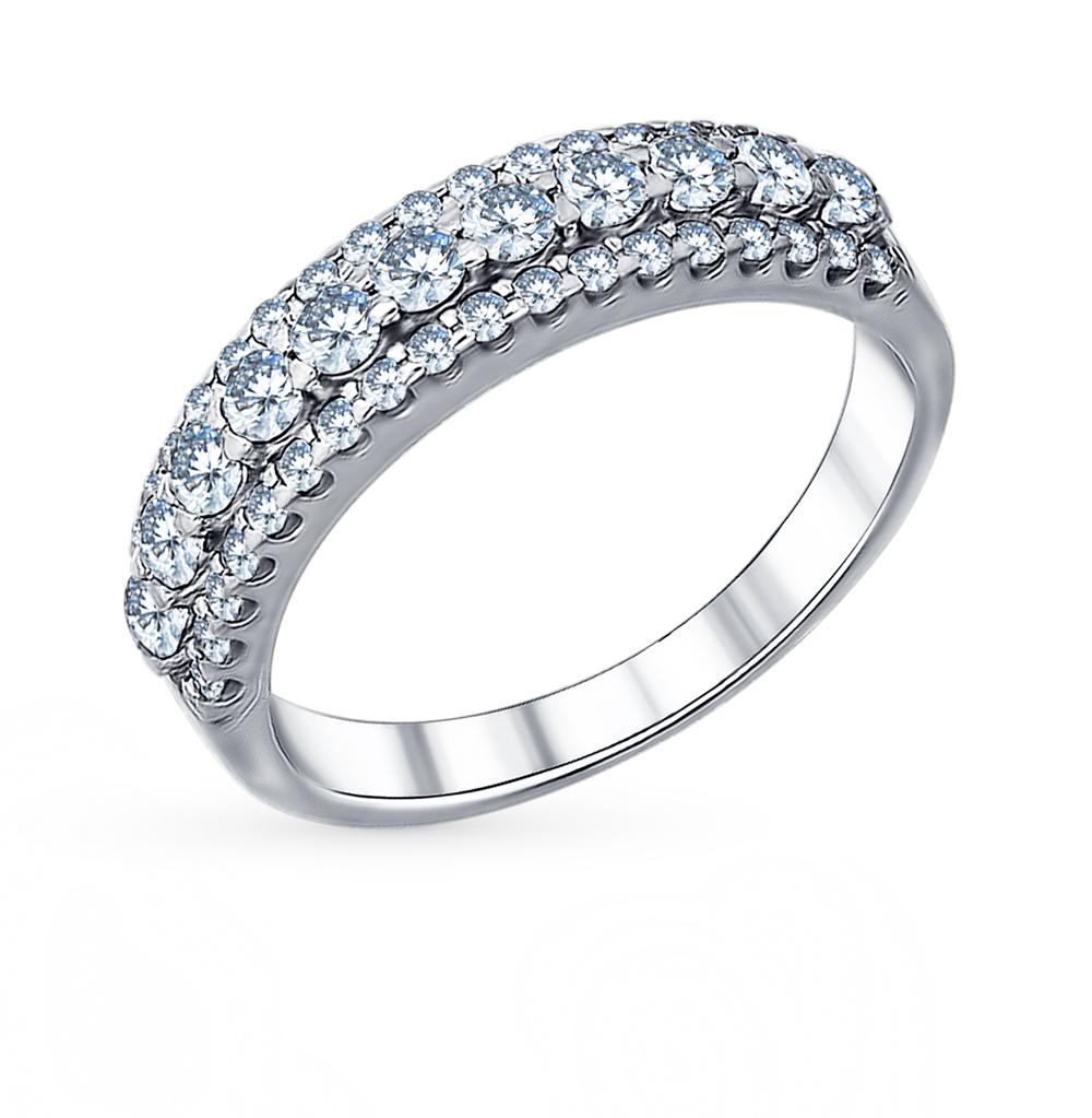 серебряное кольцо с фианитами SOKOLOV 94011270