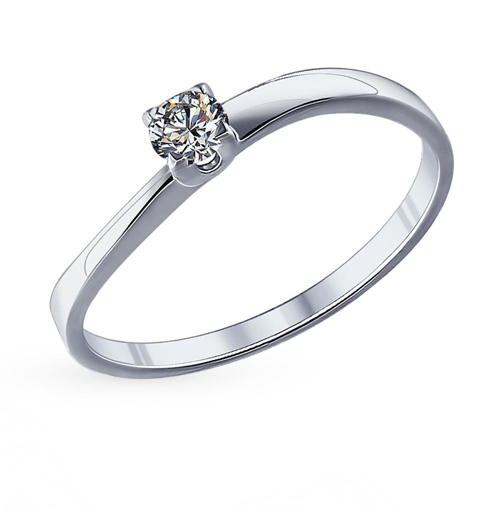 серебряное кольцо с фианитами SOKOLOV 89010022