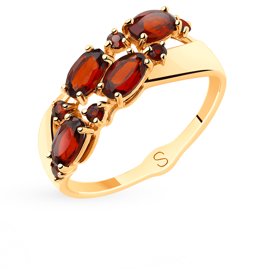 Золотое кольцо с гранатом SOKOLOV 715503* в Екатеринбурге