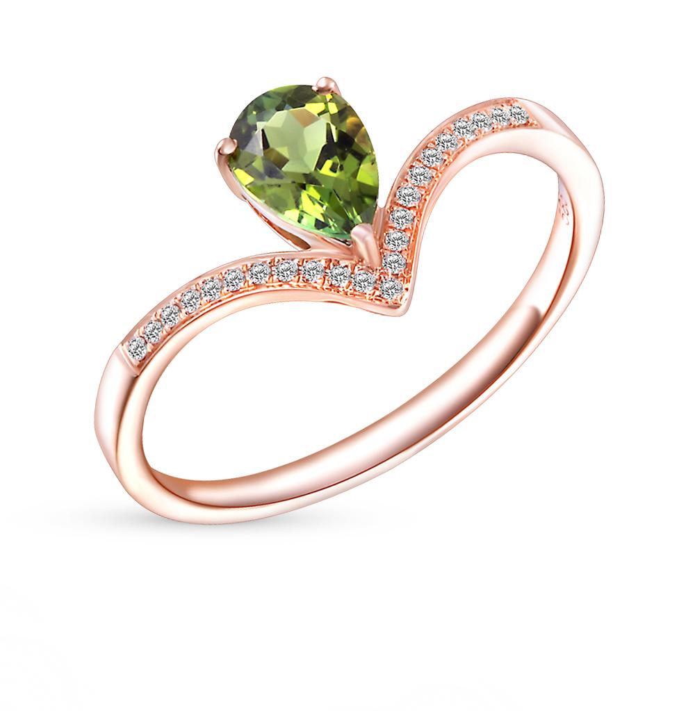 Фото «золотое кольцо с турмалинами и бриллиантами»