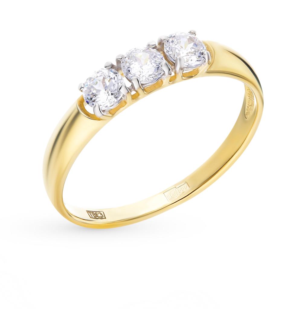 золотое кольцо с фианитами SOKOLOV 81010283-2*