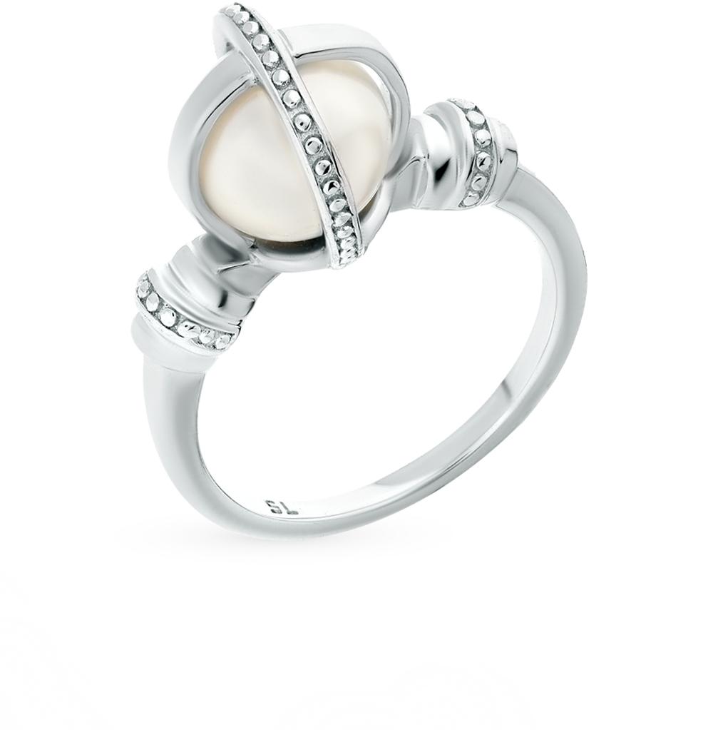 Фото «серебряное кольцо с жемчугами имитациями»