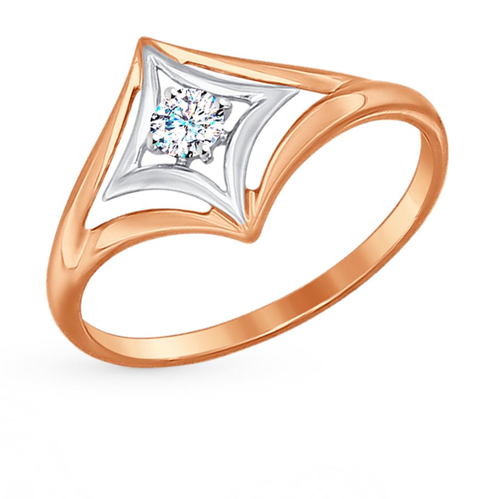 Фото «Золотое кольцо с фианитами SOKOLOV 017189*»