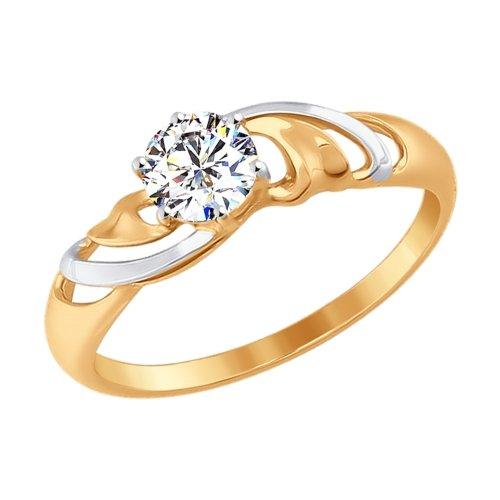 Фото «Золотое кольцо с фианитами SOKOLOV 017300*»