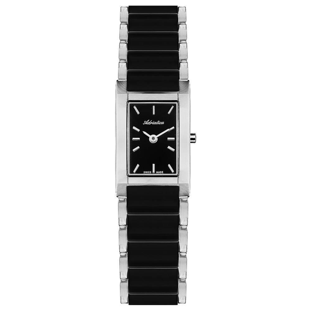Фото «Женские часы A3396.E114Q на стальном браслете с керамическими вставками с минеральным стеклом»