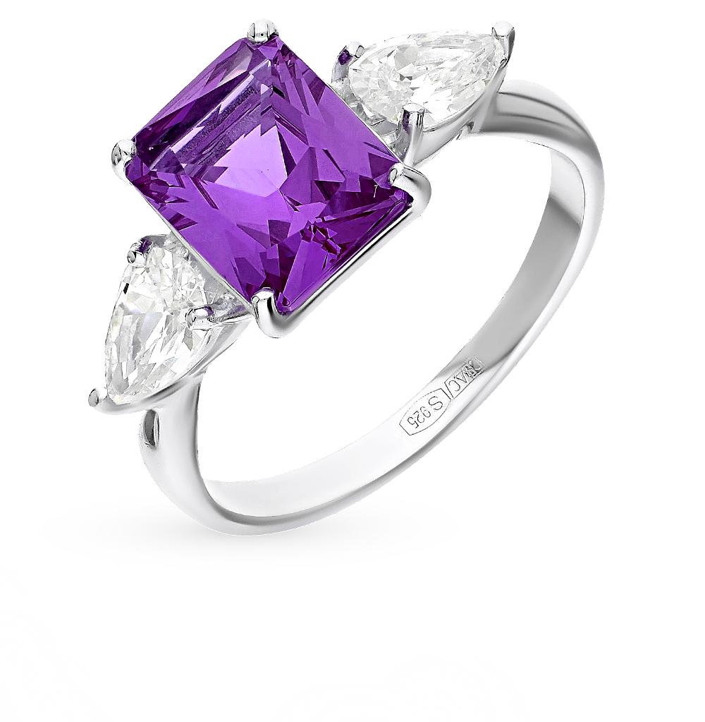 Фото «Серебряное кольцо с наноситалами и фианитами SOKOLOV 92011285»