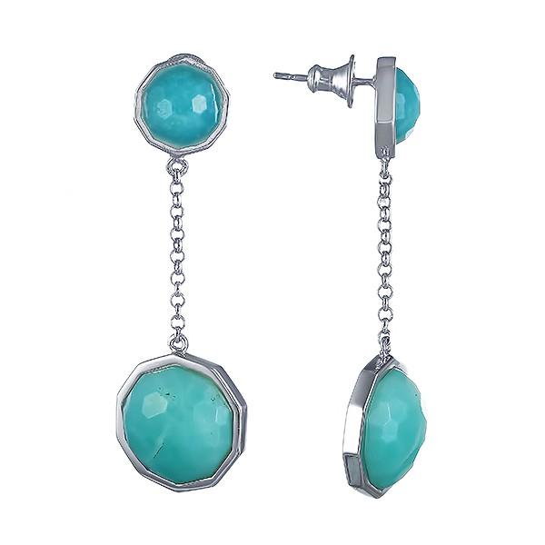 Фото «Серебряные серьги с аквамарином»