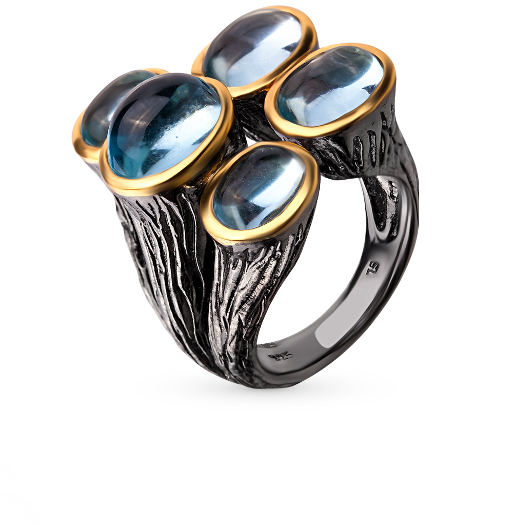 Фото «серебряное кольцо с топазами»