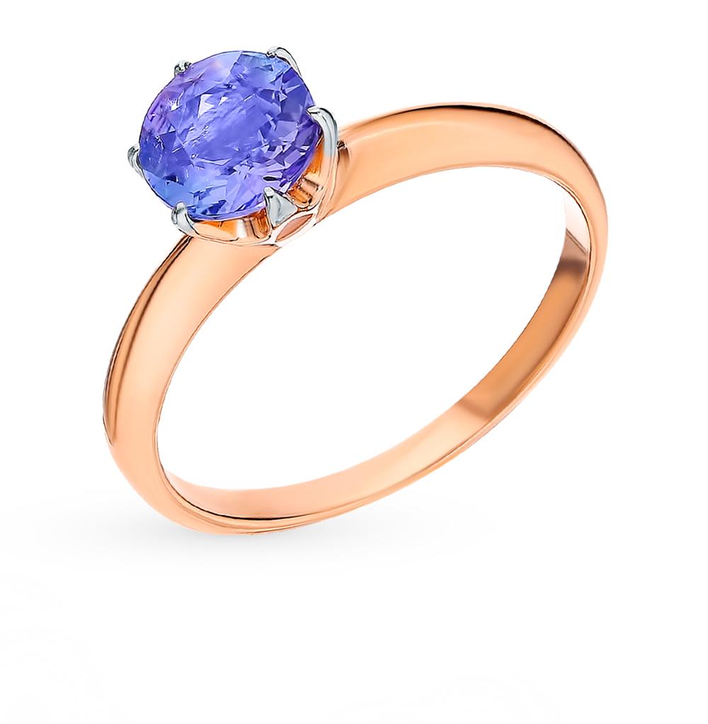 Золотое кольцо с танзанитом в Екатеринбурге