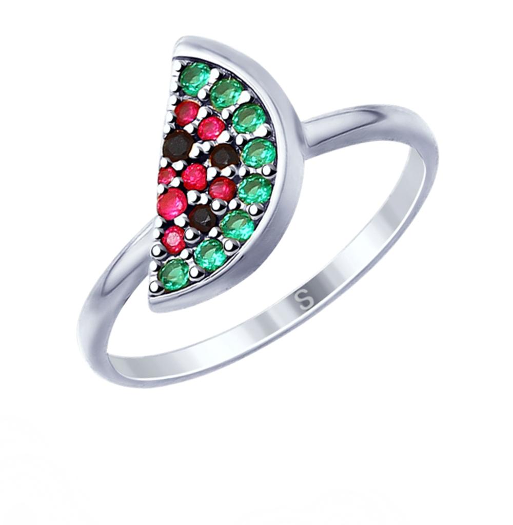 серебряное кольцо с фианитами SOKOLOV 94012753