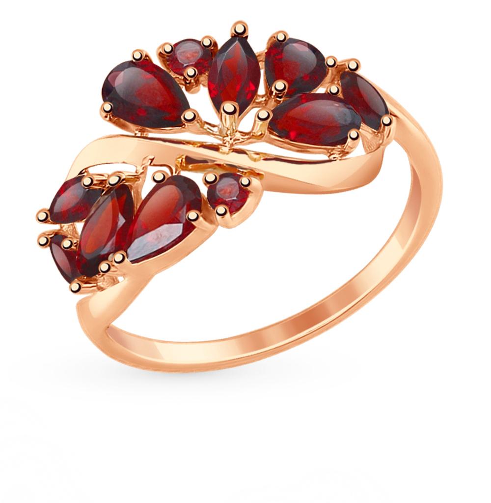 золотое кольцо с гранатом SOKOLOV 714842*