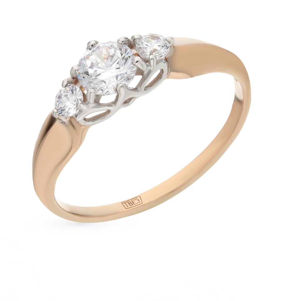 Фото «Золотое кольцо с фианитами SOKOLOV 017492*»