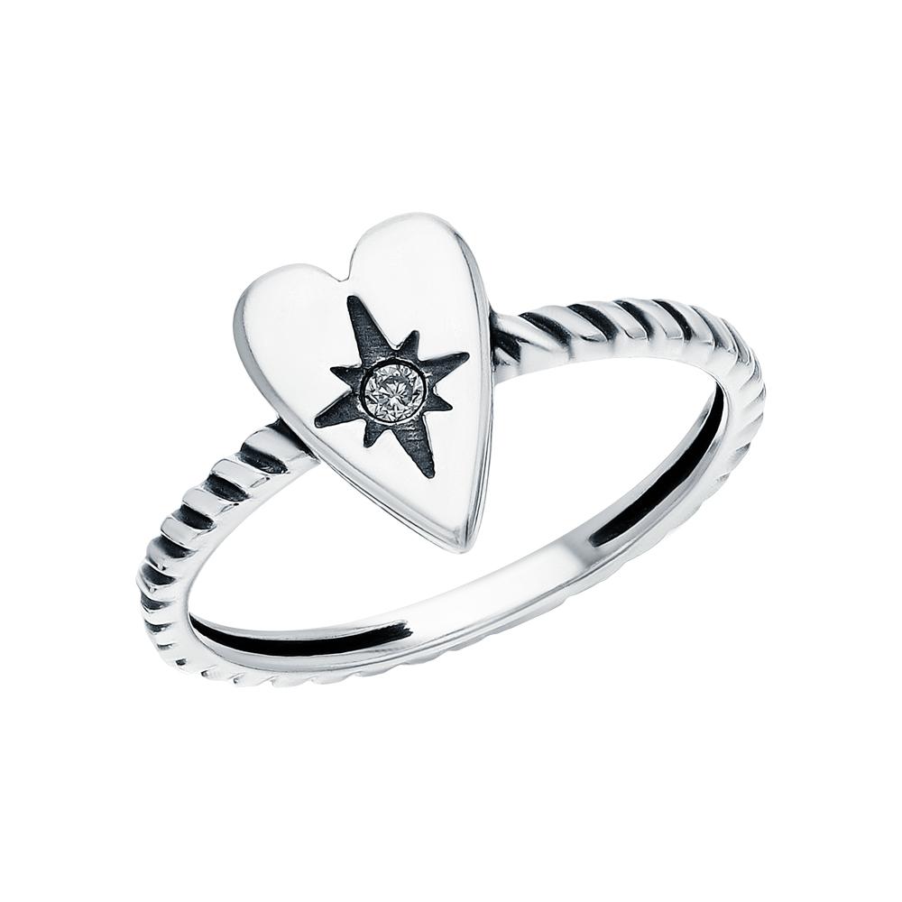 Серебряное кольцо с фианитами SOKOLOV 95010129 в Екатеринбурге