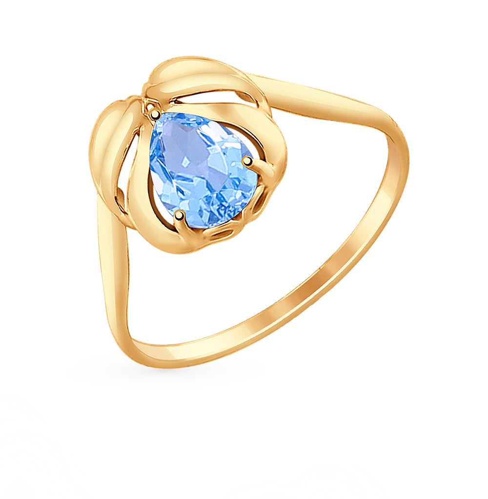 Фото «Золотое кольцо с топазами SOKOLOV 714700*»