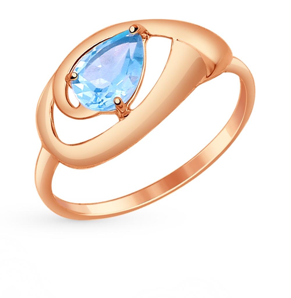 золотое кольцо с топазами SOKOLOV 714637*