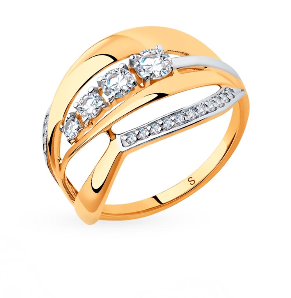 Золотое кольцо с фианитами SOKOLOV 018284 в Екатеринбурге