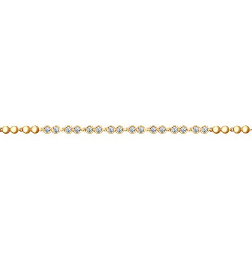 Серебряный браслет с фианитами SOKOLOV 93050098 в Санкт-Петербурге