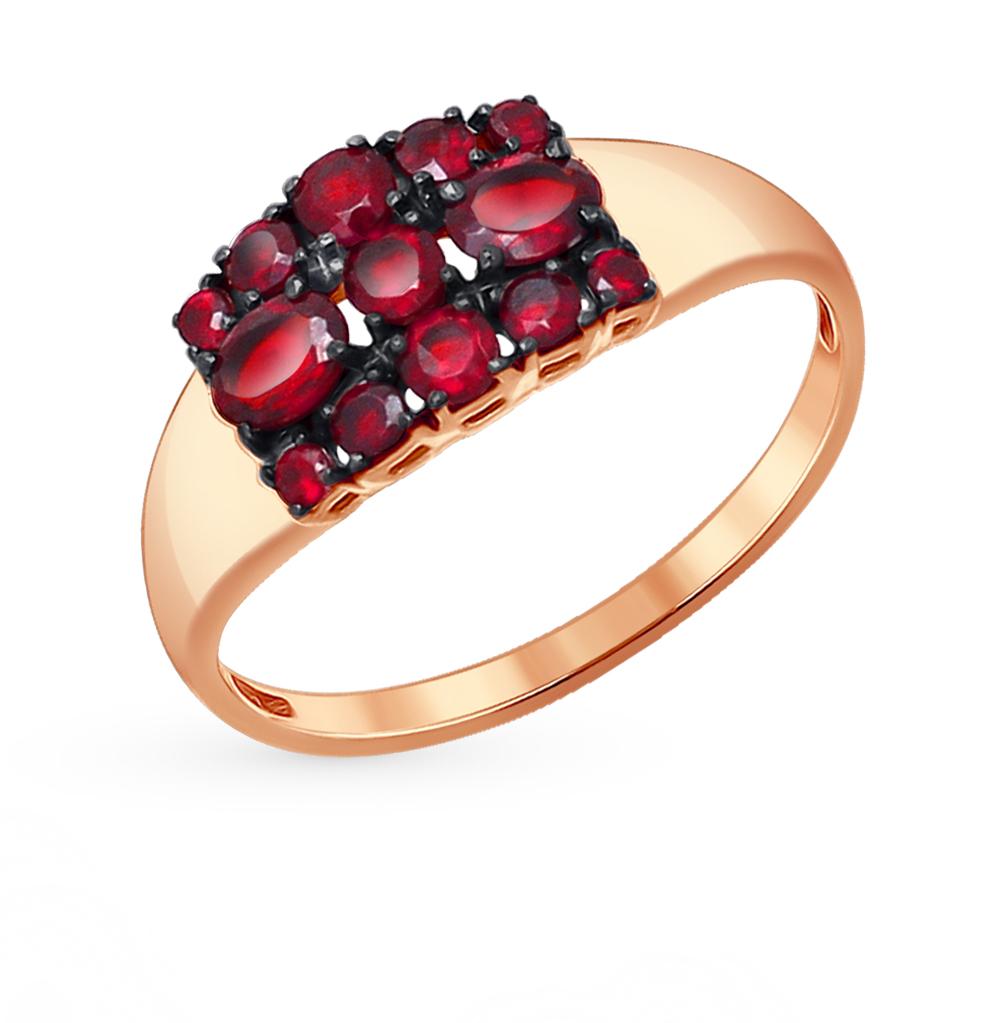 золотое кольцо с гранатом SOKOLOV 714049*