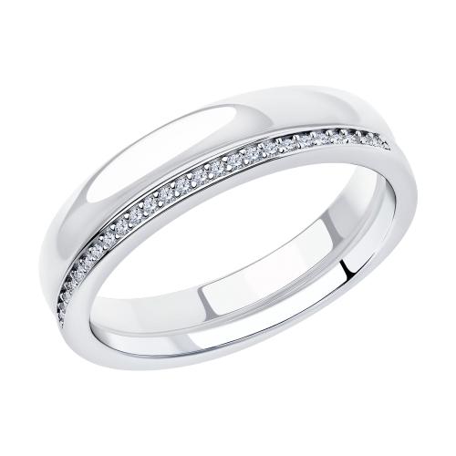 Фото «Серебряное кольцо с керамикой и фианитами SOKOLOV 94014588»